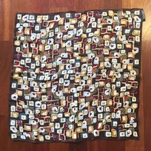 Harold's Accessories - Harold's 100% Silk Scarf, Abstract Geometric Motif